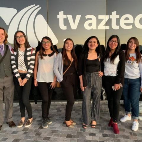 Visita a Tv Azteca Puebla 2020